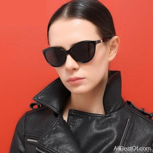 AllBestOf.com SUNGLASSES Brand Design Cat eye Women Sunglasses Polarized Vintage Style Shades Glasses