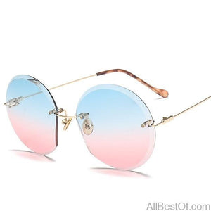 AllBestOf.com SUNGLASSES c6 Metal Rimless Sunglasses Women Ocean Lens Classic Brand Designer HD UV400