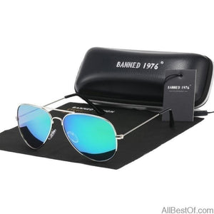 AllBestOf.com SUNGLASSES Classic HD Polarized Metal Frame Fashion Sunglasses
