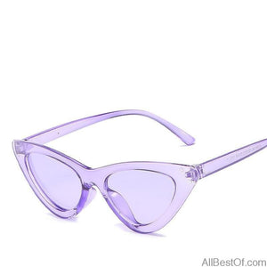 AllBestOf.com SUNGLASSES Fashion Cat Eye Sunglasses Women Purple Mirrored