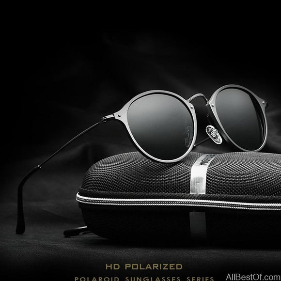 AllBestOf.com SUNGLASSES Fashion vintage Aviation Aluminum Round Polarized SunGlasses brand designer