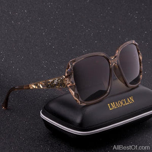 AllBestOf.com SUNGLASSES Luxury Brand Design HD Polarized Sunglasses Women Oversized Square Gradient UV400