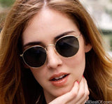AllBestOf.com SUNGLASSES New Classic Round Metal Style Polarized Sunglasses Unisex Vintage Brand Design UV400