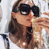 AllBestOf.com SUNGLASSES New Women Square Oversized Sunglasses Brand Designer Vintage Shades UV400