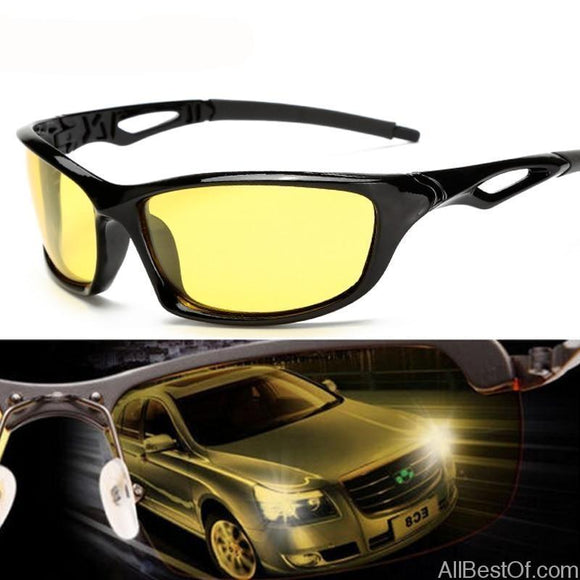 AllBestOf.com SUNGLASSES Night Vision Glasses For Headlight Polarized Driving Sunglasses Yellow Lens UV400