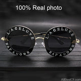 AllBestOf.com SUNGLASSES Retro Round Sunglasses Unisex Brand Designer English Letters Bee Metal Frame Circle Sun Glasses Fashion UV400