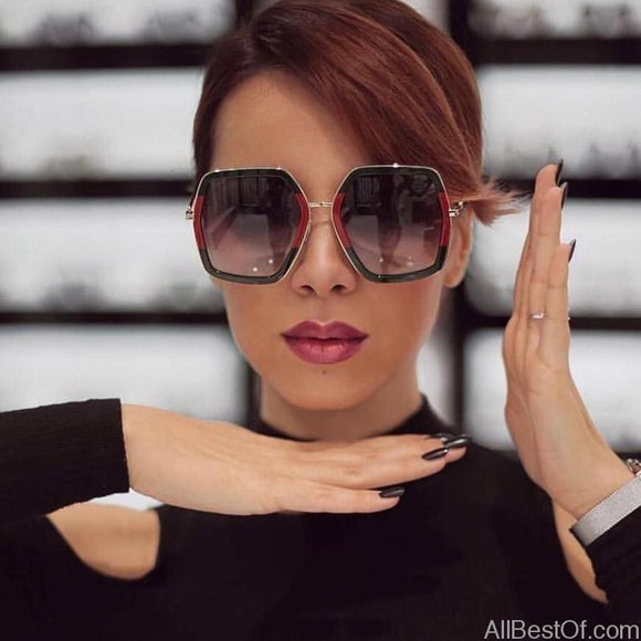 AllBestOf.com SUNGLASSES Square Luxury Sun Glasses Brand Designer Ladies Oversized Crystal UV400