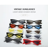 AllBestOf.com SUNGLASSES Vintage Women Sunglasses Triangle Eyewear Gradient Lens Cat Eye