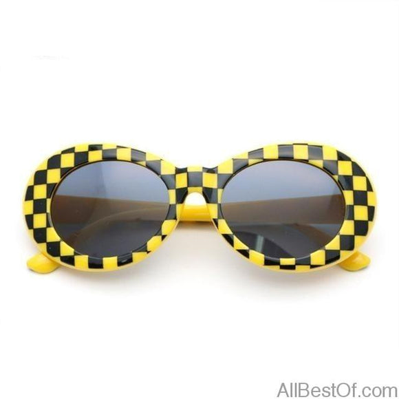 AllBestOf.com SUNGLASSES Yellow Nirvana Kurt Cobain style Glasses Round Clout Sunglasses Unisex