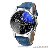AllBestOf.com WATCHES Blue Fashion Watches Blue Ray Mens Top Brand Luxury Watch Clock