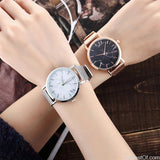 AllBestOf.com WATCHES Brand Fashion Silver And Gold Mesh Band Creative Marble WristWatch Casual Women Watches