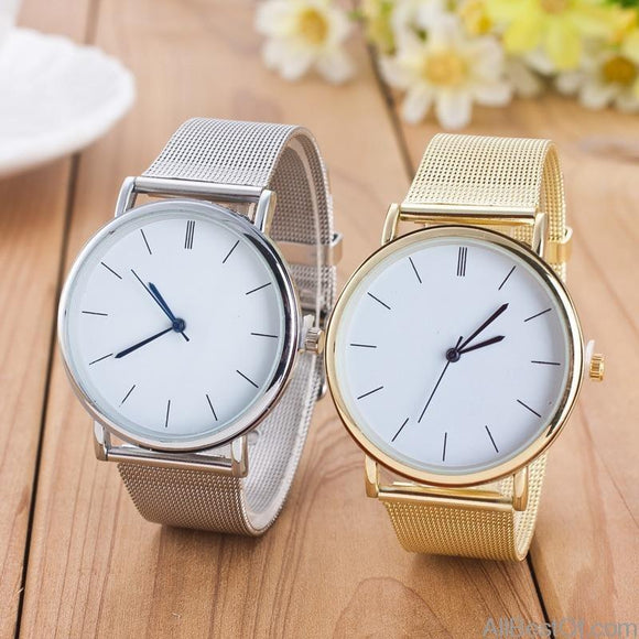 AllBestOf.com WATCHES Famous Brand Gold Silver Casual Quartz Stainless Steel Women Watches