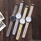 Fashion Silver Mesh Quartz Watch Women Metal Stainless Steel Dress Watches - AllBestOf.com