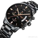 Gold Quartz Watch Top Brand Luxury Men Watches Fashion Wristwatches Stainless Steel - AllBestOf.com