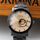 Small New Design Unisex Watches Fashion Black Round Dial Stainless Steel Band - AllBestOf.com