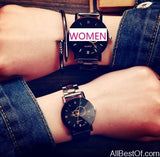 Small New Design Women Watches Fashion Black Round Dial Stainless Steel Band - AllBestOf.com