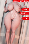 4ft11' (150cm) M-Cup BBW Big Butt Sex Doll Body (WM Doll)