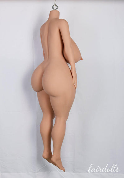 4ft9' (146cm) O-Cup Bbw Big Butt  Busty Sex Doll Body (YL Doll)