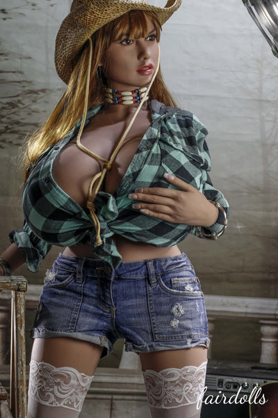"4'11"" (150cm) O-Cup Huge Breast Cowgirl Sex Doll - Jaylah (YL Doll)"