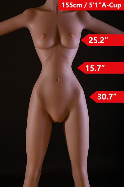 "5'1"" (155cm) A-Cup Sex Doll Body (WM Doll)"