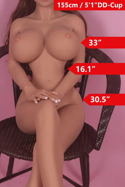 5ft1' (155cm) DD-Cup Huge Boobs Doll Body (WM Doll)
