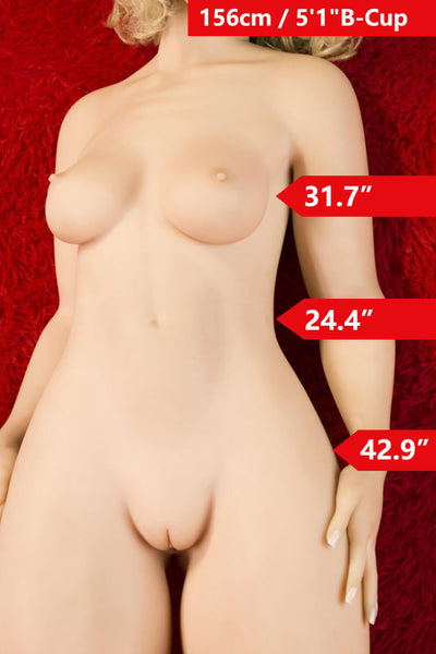 "5'1"" (156cm)  B-Cup Big Butt Sexy Doll Body (WM Doll)"