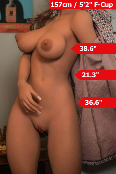 "5'1"" (157cm) F-Cup Big Tits Big Booty Sex Doll Body (YL Doll)"