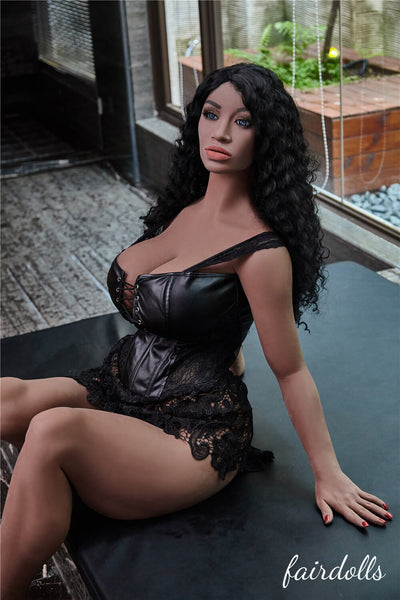 "5'2"" (158cm) G-Cup Black Sex Dolls - Nuru (Irontech Doll)"