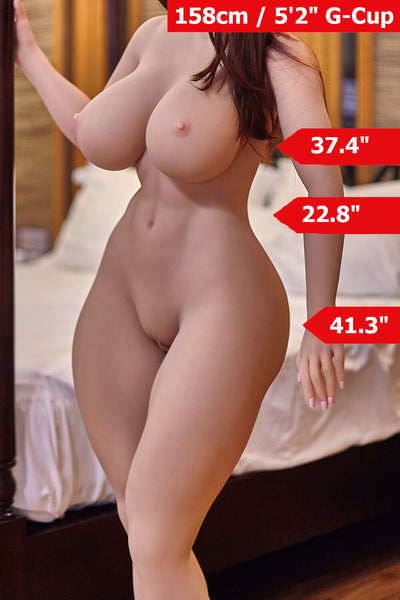 "5'2"" (158cm) G-Cup Chubby Athletic Sex Doll Body (Irontech Doll)"