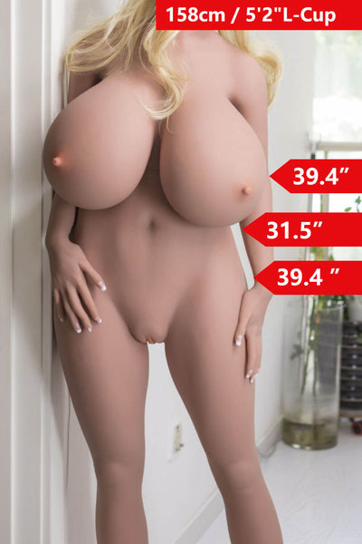 5ft2' (158cm) L-Cup Huge Boobies Sex Doll Body (WM Doll)