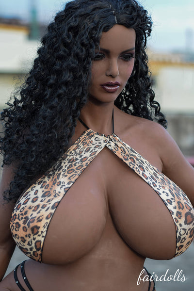 "5'4"" (165cm) N-Cup Black Huge Breasts Sex Dolls - Harley (6YE Doll)"