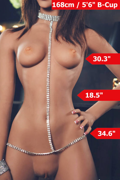 "5'6"" (168cm) B-Cup Curvy  Sex Doll Body (YL Doll)"