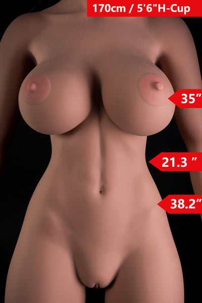 5ft7' (170cm) H-Cup Big Tits Sex Doll Body (WM Doll)