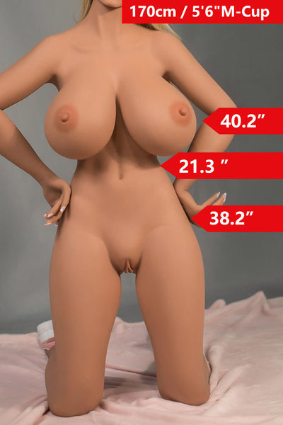 5ft7' (170cm) M-Cup Huge Boobs Sex Doll Body (WM Doll)