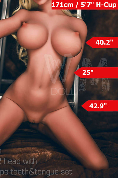 5ft7' (171cm) H-Cup Curvy Thin Waist Sex Doll Body (WM Doll)