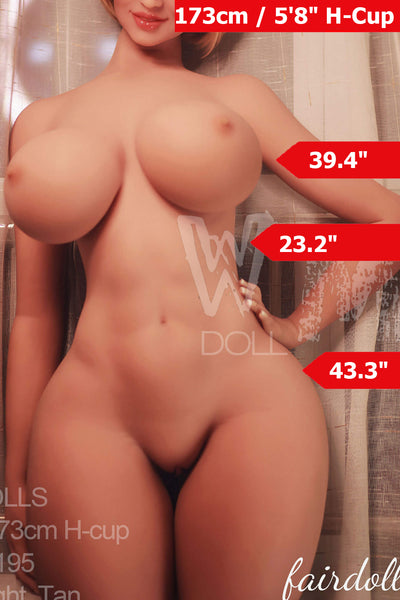 5ft8' (173cm) H-Cup  Super Sensual Curvy  Sex Doll Body (WM Doll)