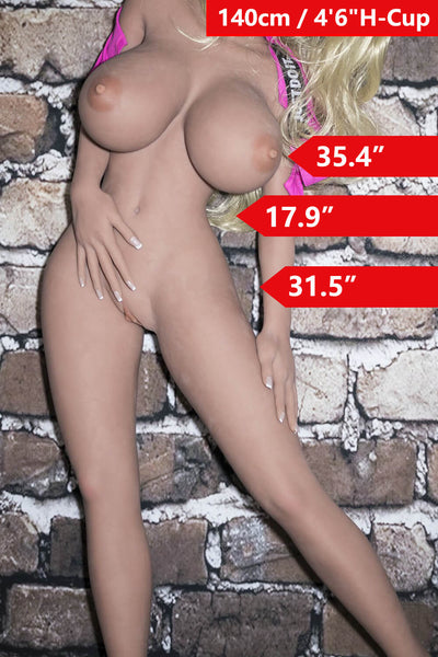 "4'7"" (140cm) H-Cup Big Booty Sex Doll Body (YL Doll)"