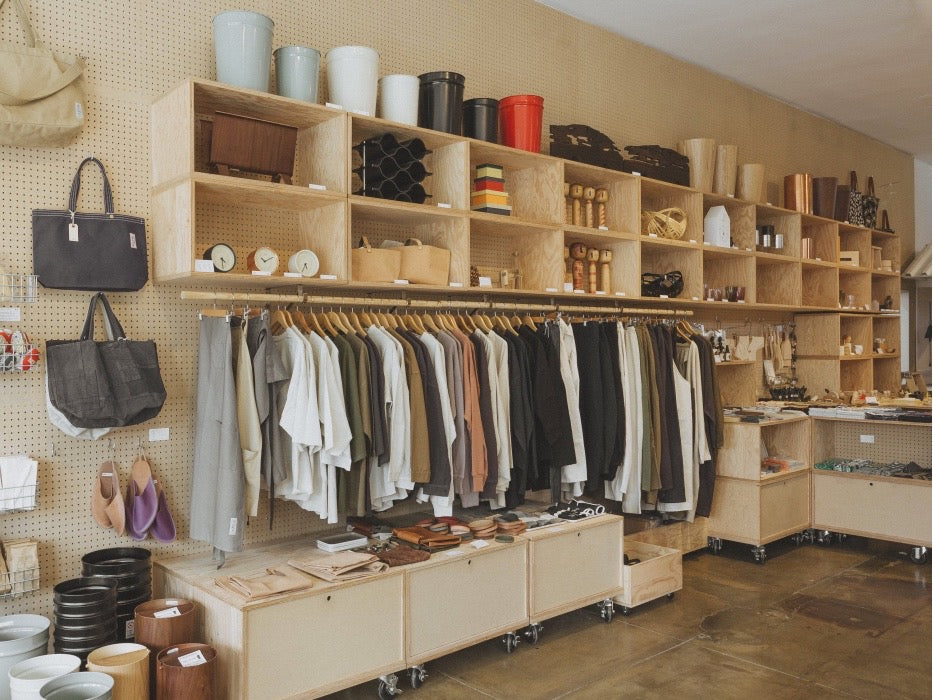 Interior shot of the Tortoise General Store showing the displays and product shelves