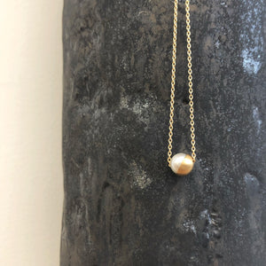 45 Degree Half Pearl Necklace by Shihara