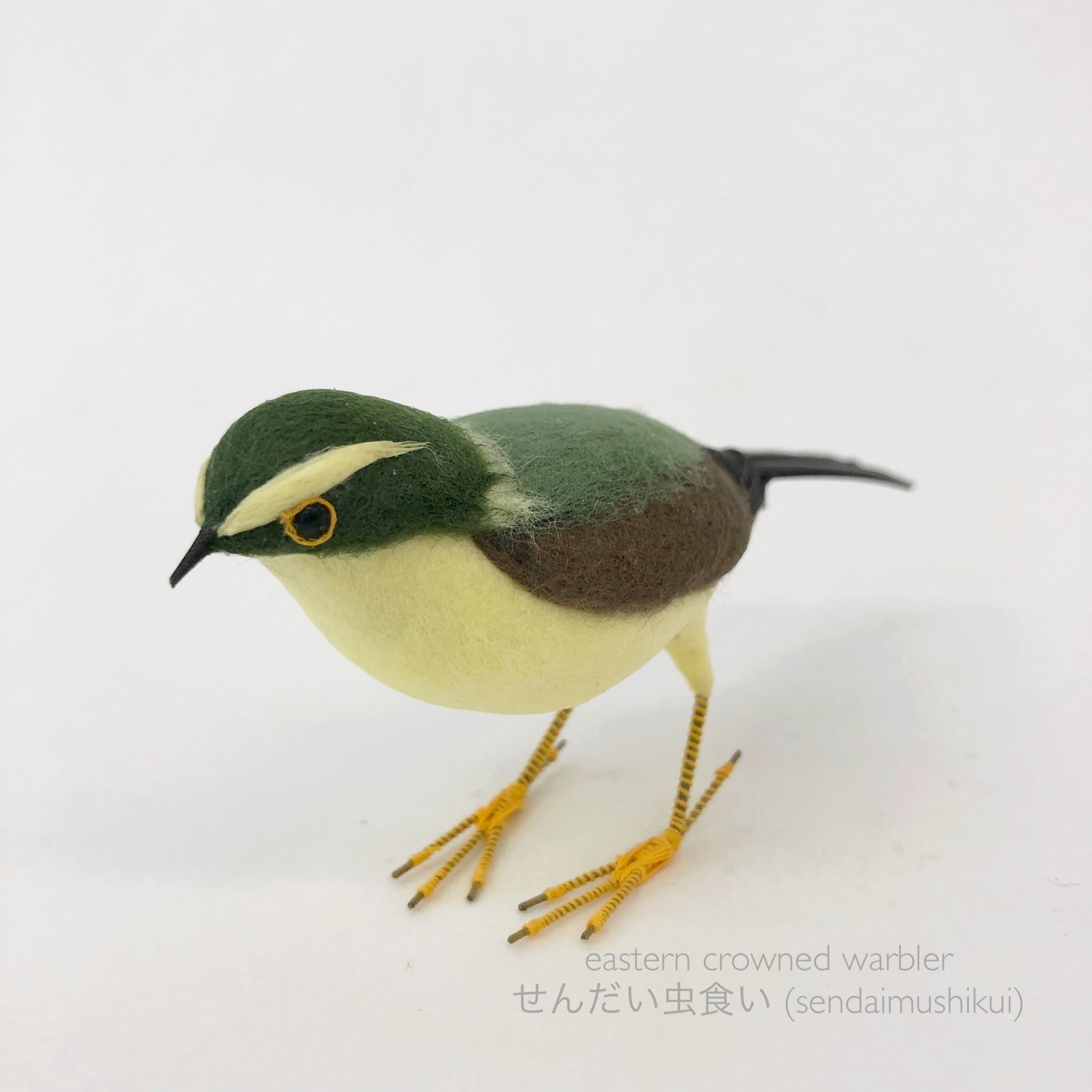 Wild Bird Ornament -Eastern crowned warblerー仙台虫喰い