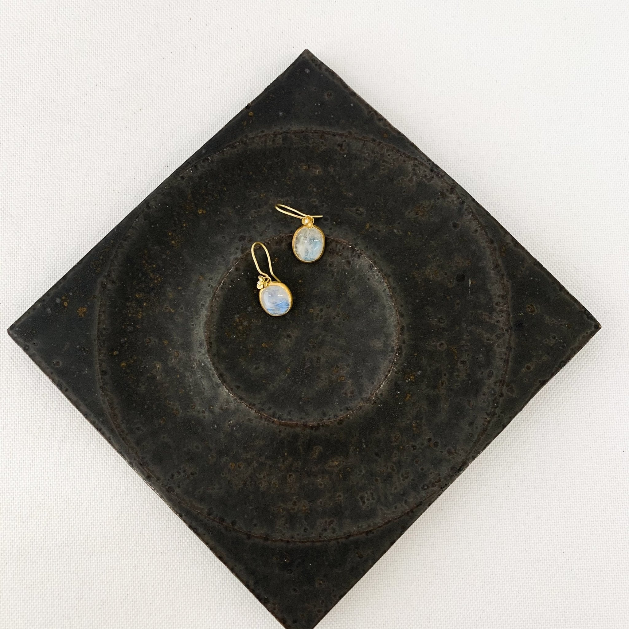Black Barc Tanoki Moonstone Earrings - tortoise general store
