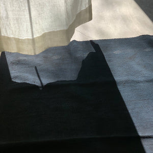 Black Over Dye Quilt: Mud + Sharimbai + Indigo - tortoise general store