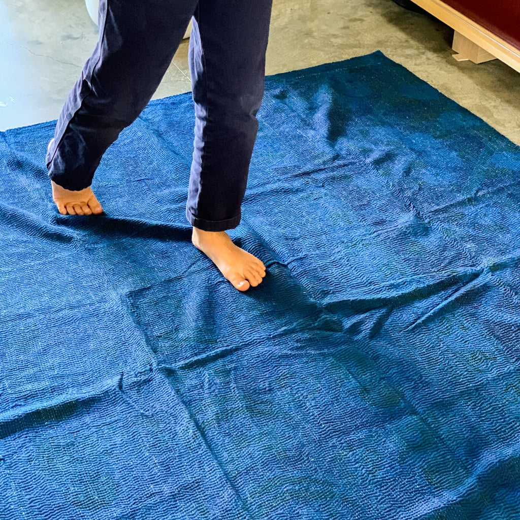 Blue Over Dye Quilt: Indigo - tortoise general store