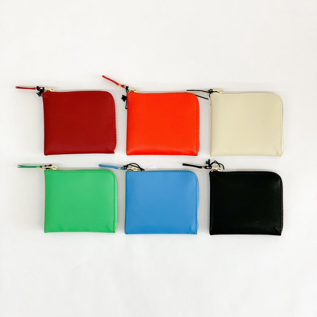 CDG Wallet SA3100 - tortoise general store, red, orange, off white, green, blue, black color