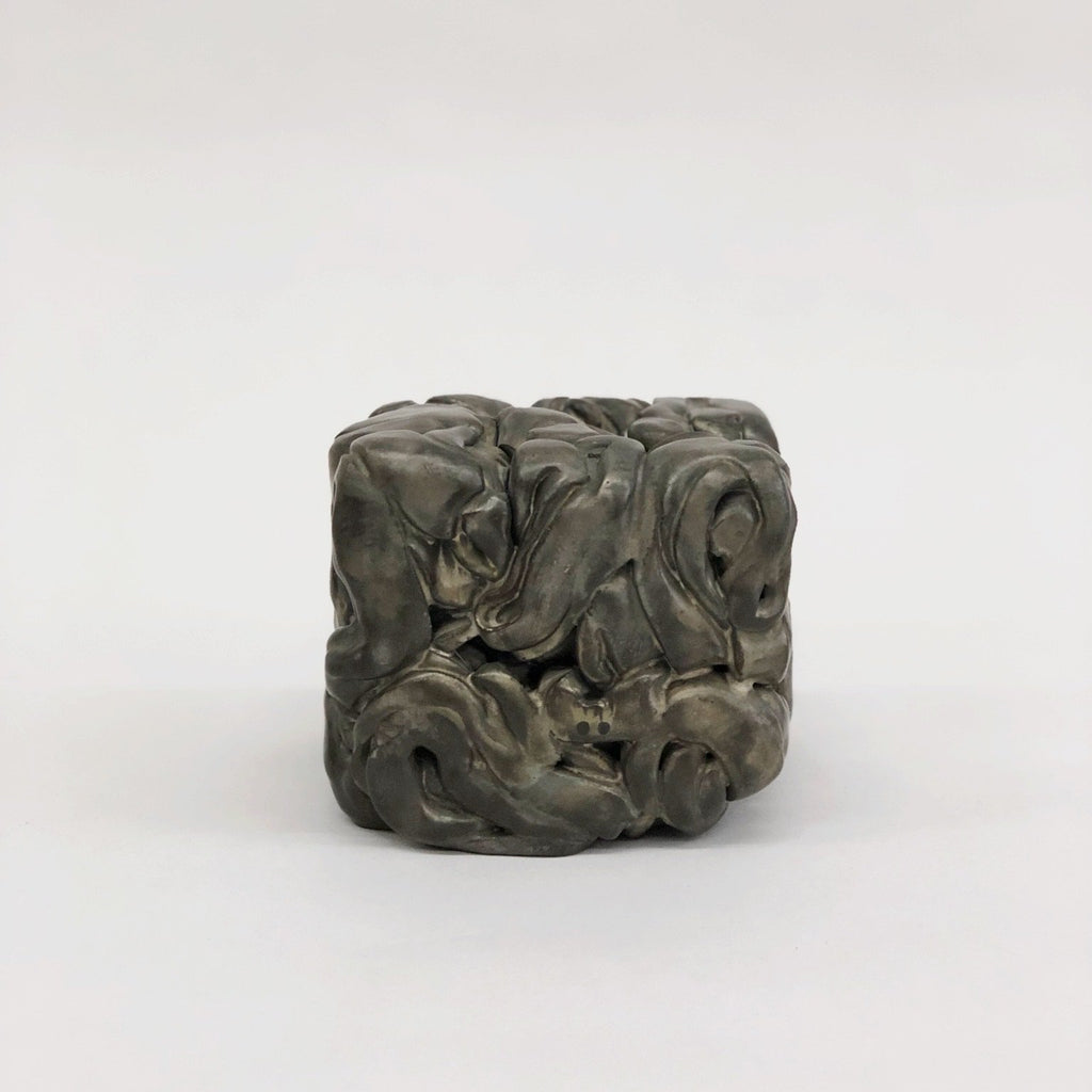 Ceramic Cube Sculpture by Masanobu Ando - tortoise general store