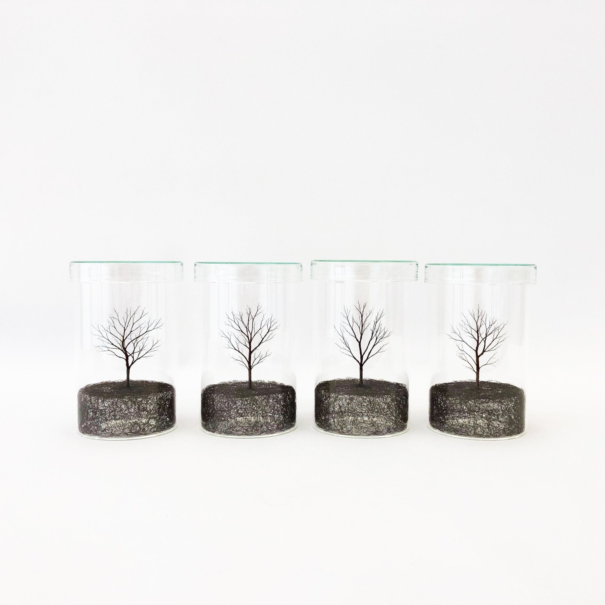 Copper Wire Trees #1 - 4 (2020) by Mitsuru Koga - tortoise general store