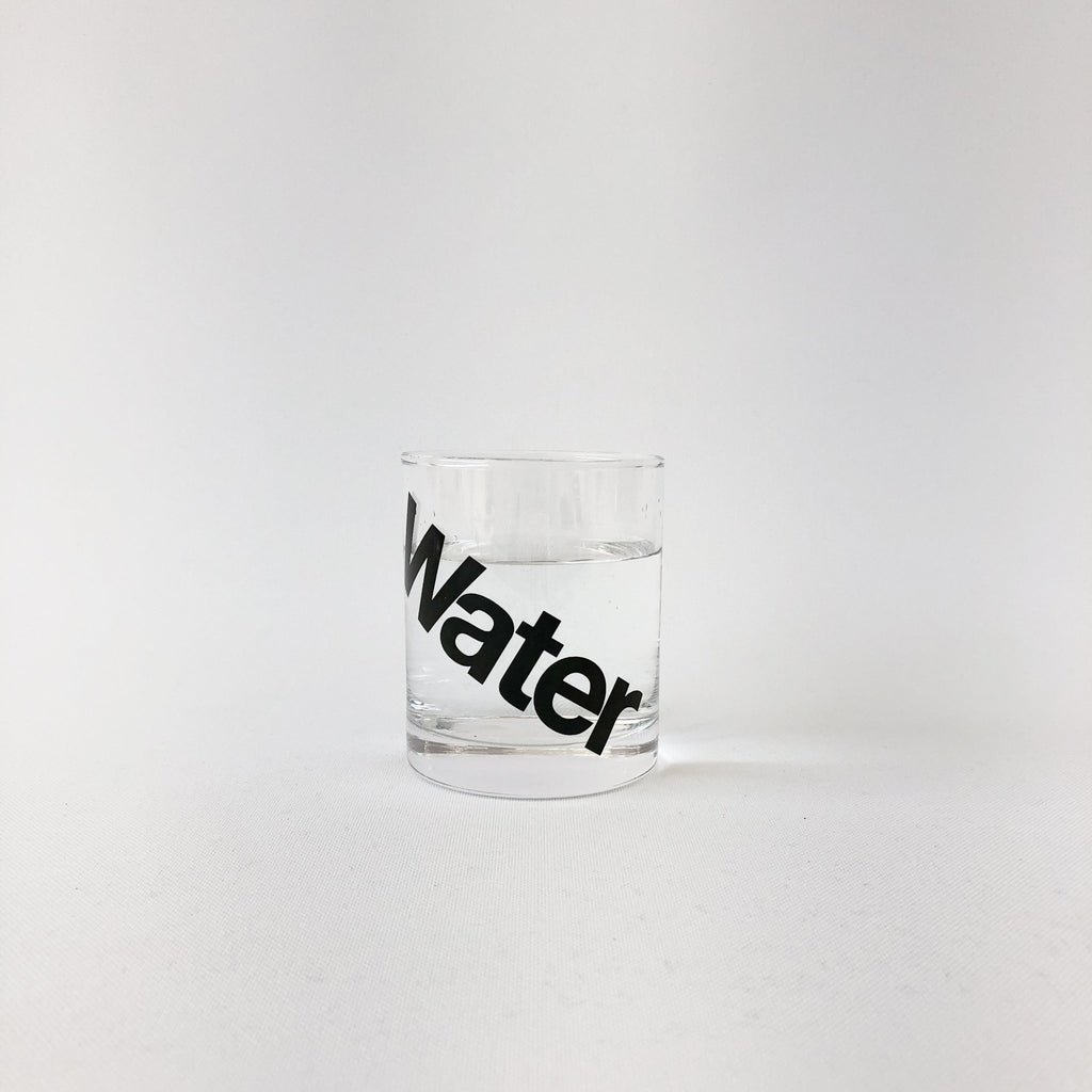 Drink Water Glass in Black - tortoise general store