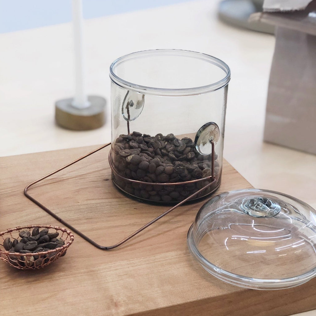 Glass Coffee Bean Container by Peter Ivy - tortoise general store
