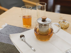 Glass Teapot with Wood Handle by Hario - tortoise general store