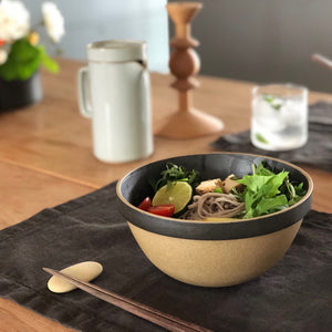 HPB047 Black Deep Round Bowl - tortoise general store